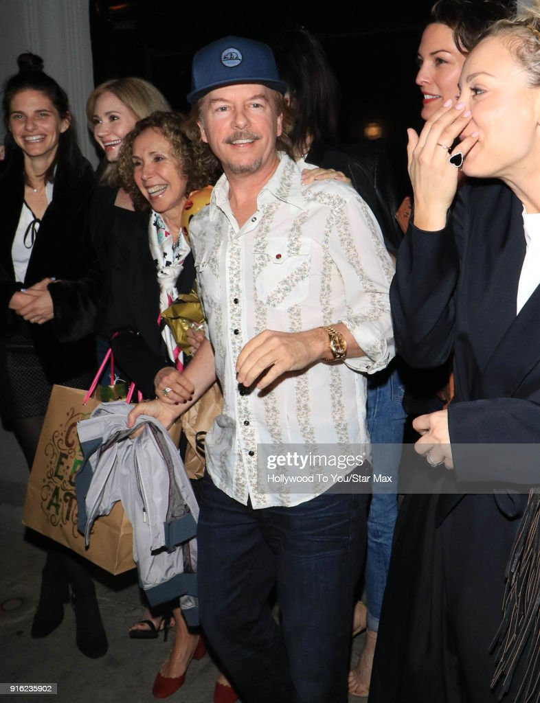 David Spade is seen on February 8, 2018 in Los Angeles, California.