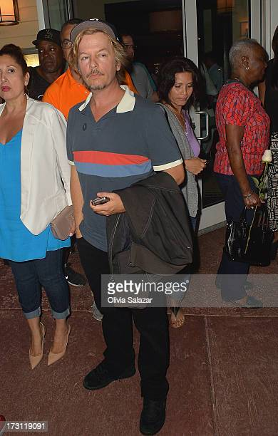 David Spade is sighted at Prime 112 Steakhouse on July 7 2013 in Miami Beach Florida