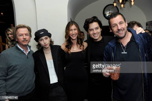 David Spade King Princess Jackie Sandler Cole Sprouse and Adam Sandler attend the Los Angeles premiere of Uncut Gems on December 11 2019 in Los...