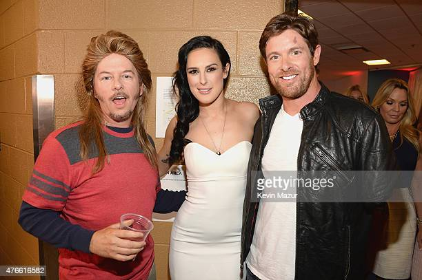 David Spade Noah Galloway and Rumer Willis attend the 2015 CMT Music awards at the Bridgestone Arena on June 10 2015 in Nashville Tennessee