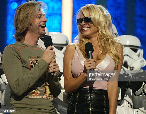 David Spade Pamela Anderson and Storm Troopers during First Annual Spike TV Video Game Awards Show and Backstage at MGM Grand Casino in Las Vegas...