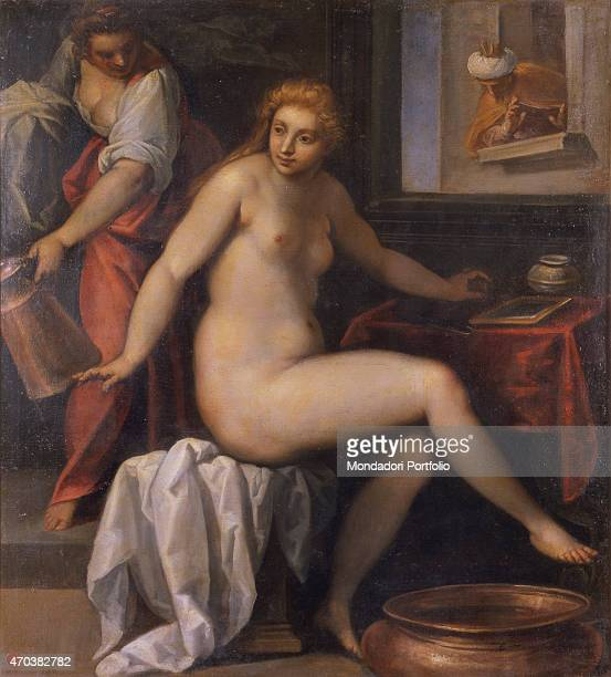 'David spies Bathsheba Bathing by Jacopo Negretti known as Palma the Younger 1610 1615 17th century oil on canvas Italy Lazio Rome National Gallery...