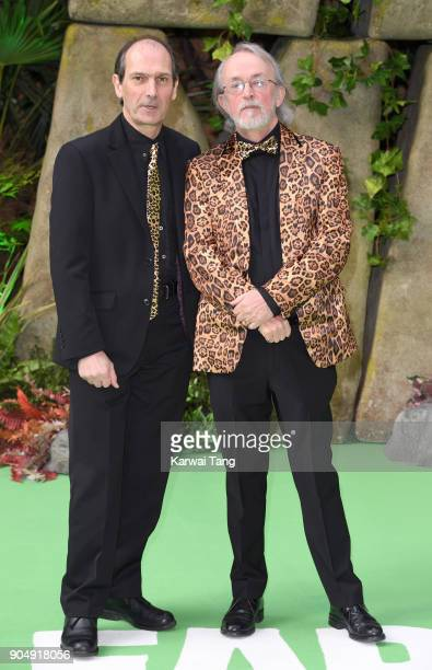 David Sproxton and Peter Lord attend the 'Early Man' World Premiere at the BFI IMAX on January 14 2018 in London England