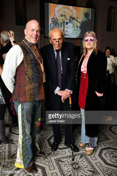 David Stack Lewis Lapham and Sarah Stack attend Lapham's Quarterly Decades Ball 2019 at 583 Park Avenue on March 25 2019 in New York City