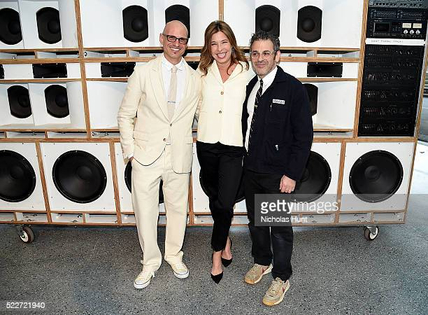 David Stark Anne Pasternak and Tom Sachs attend The 2016 Brooklyn Museum Artists Ball Honoring Stephanie and Tim Ingrassia on April 20 2016 in New...