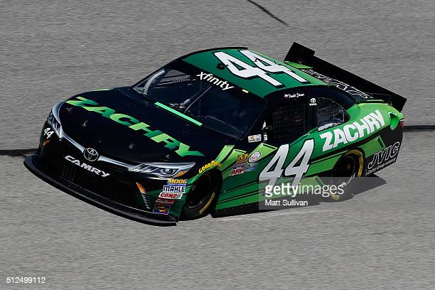 David Starr driver of the Zachry Toyota practices for the NASCAR XFINITY Series Heads Up Georgia 250 at Atlanta Motor Speedway on February 26 2016 in...