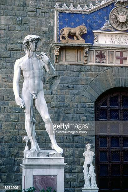David Statues Piazza della Signoria Florence Firenza Tuscany Italy
