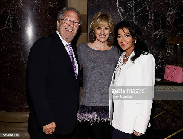 David Steinberg Brynn Thayer and Claire Mercuri attend the 8th Annual Exploring the Arts Gala at Cipriani 42nd Street on September 29 2014 in New...