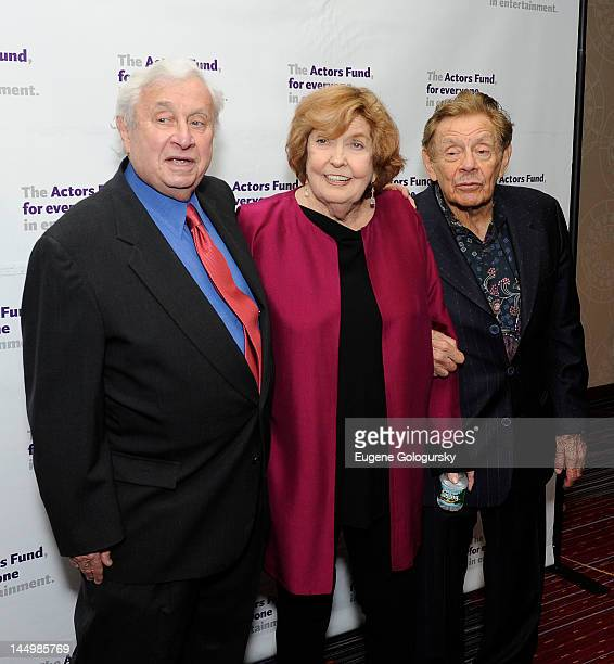 David Steiner, Anne Meara and Jerry Stiller attends The Actors Fund Gala 2012 at the Marriott Marquis Hotel on May 21, 2012 in New York City.