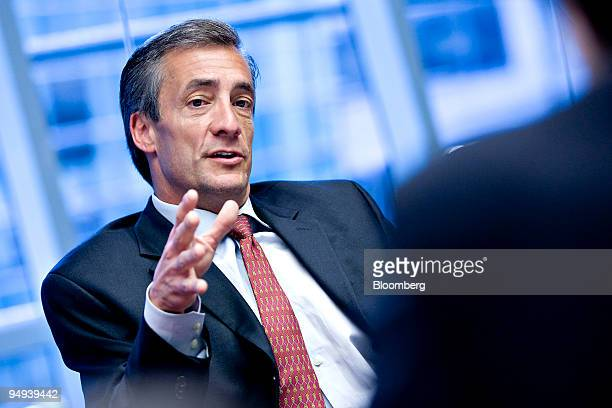 David Steiner, chief executive officer of Waste Management Inc., speaks during an editorial board meeting in New York, U.S., on Wednesday, April 8,...