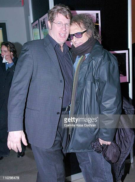 David Stern and Mick Rock during Official GoLemur Launch Party at The Gallery at Milk Studios in New York City New York United States