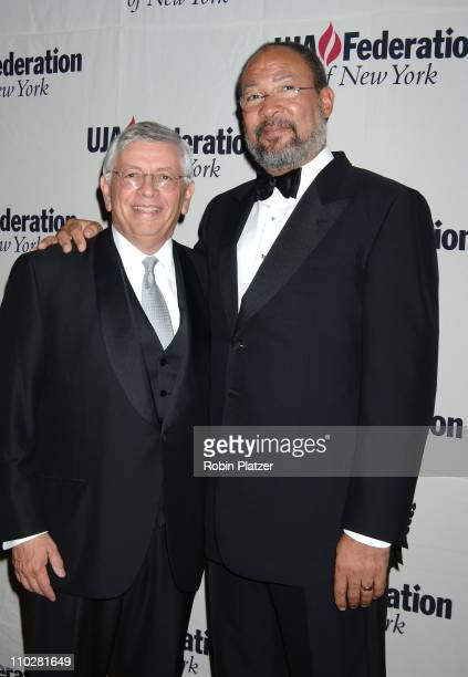 David Stern and Richard Parsons during The 10th Annual Steven J Ross Humanitarian Award by UJA Federation of New York Honoring Richard Parsons at The...
