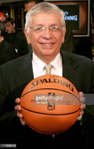 David Stern at a news conference to unveil the new NBA ball at the NBA Store in New York City, New York on June 28, 2006
