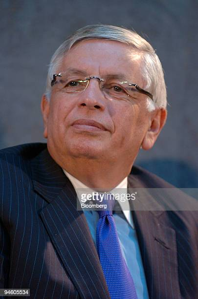 David Stern commissioner of the National Basketball Association attends a news conference in the Brooklyn borough of New York Thursday January 18...