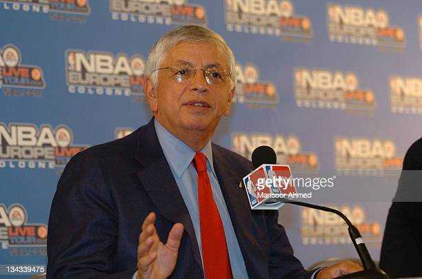 David Stern, Commissioner of the National Basketball Association, during the NBA Europe Live Tour Press conference on October 11, 2006 at the...