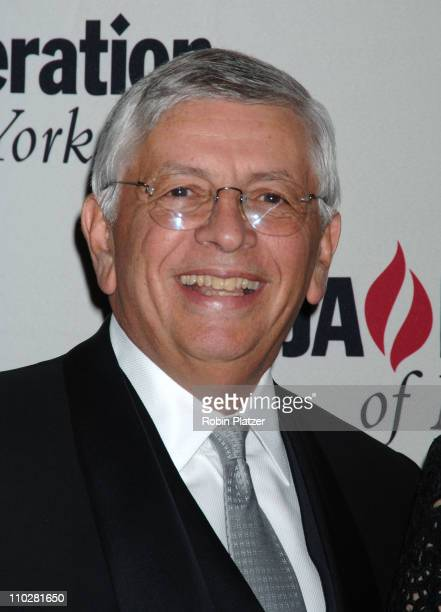 David Stern during The 10th Annual Steven J Ross Humanitarian Award by UJA Federation of New York Honoring Richard Parsons at The Waldorf Astoria...