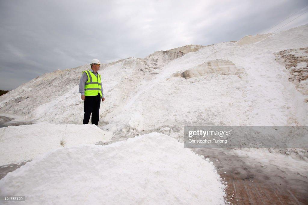 David Stevens, director of British Salt, surveys some of the