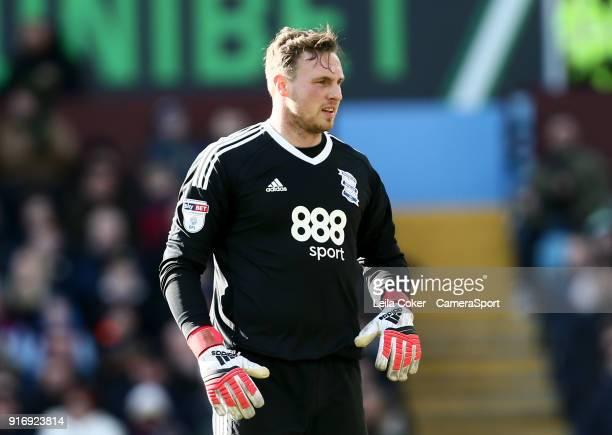 BIRMINGHAM ENGLAND FEBRUARY David Stockdale of Birmingham City during the Sky Bet Championship match between Aston Villa and Birmingham City at Villa...