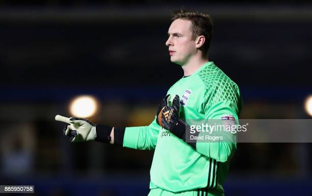 David Stockdale of Birmingham City looks on during the Sky Bet Championship match between Birmingham City and Wolverhampton Wanderers at St Andrews...