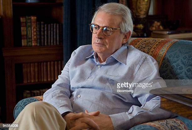 David Stockman, founder and senior managing director of Heartland Industrial Partners, L.P., sits in his home in Greenwich, Connecticut, on Tuesday,...