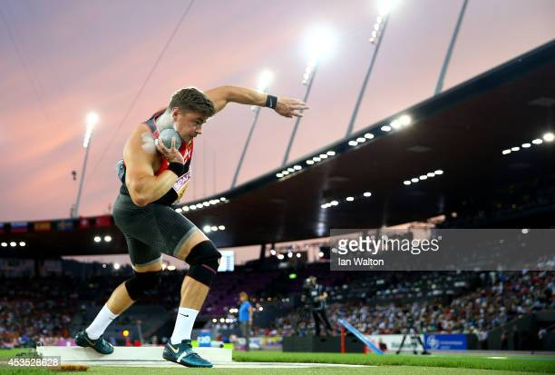 David Storl of Germany competes in the Men's Shot Put final during day one of the 22nd European Athletics Championships at Stadium Letzigrund on...