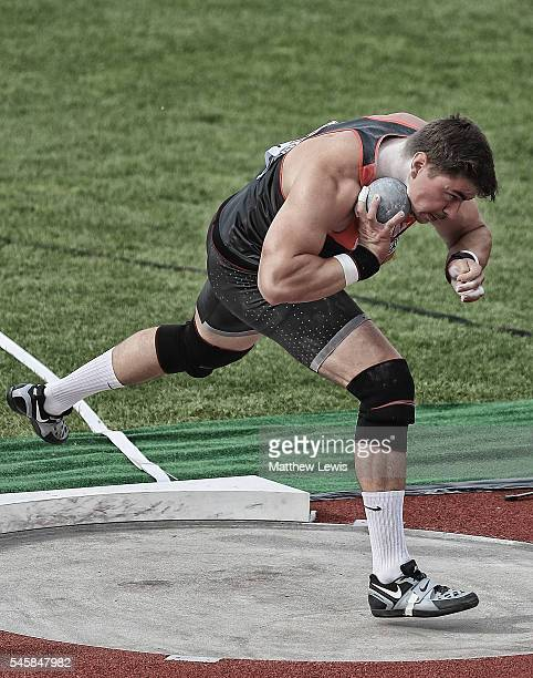David Storl of Germany in action during the Mens Shot Putt Final during day five of the 23rd European Athletics Championships at Olympic Stadium on...