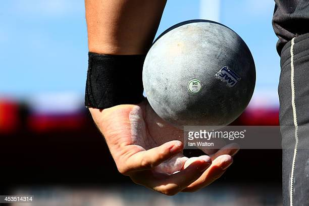 David Storl of Germany prepares to compete in the Men's Shot Put qualification during day one of the 22nd European Athletics Championships at Stadium...