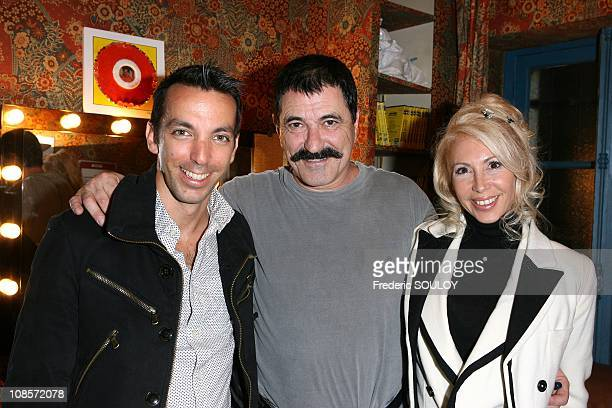 David Strajmayster, Jean-Marie Bigard and his wife Claudia in Paris, France on October 20, 2008.