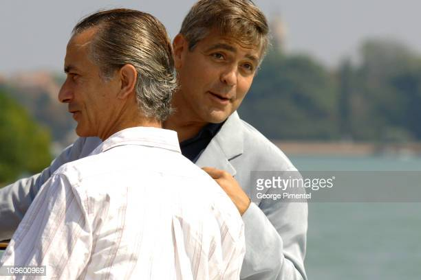 David Strathairn and George Clooney during 2005 Venice Film Festival George Clooney Sighting in Venice Lido Italy