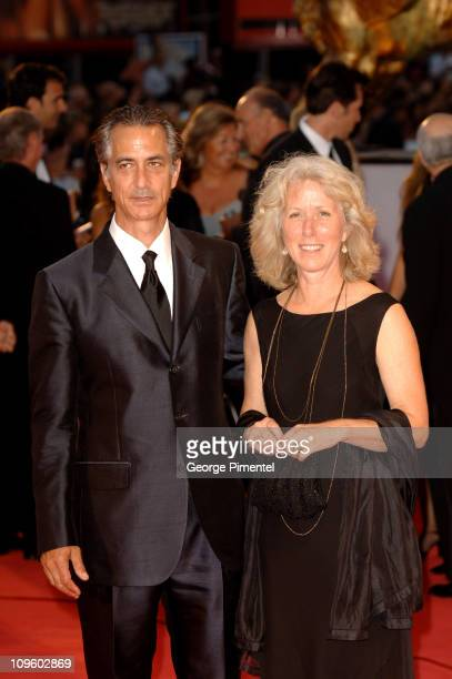 David Strathairn and wife Logan Strathairn during 2005 Venice Film Festival 'Good Night and Good Luck' Premiere at Palazzo del Cinema in Venice Lido...
