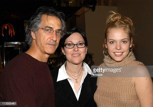 David Strathairn director Karen Moncrieff and Agnes Bruckner