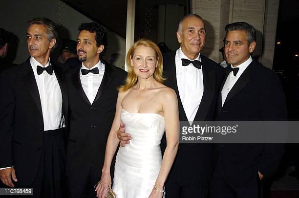 David Strathairn Grant Heslov Patricia Clarkson Frank Langella and George Clooney