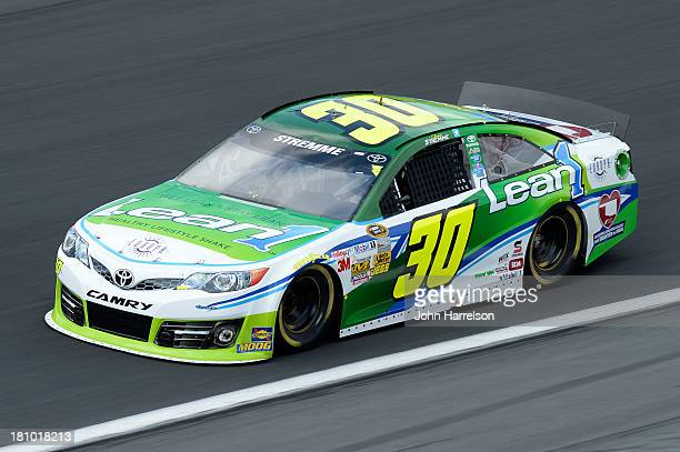 David Stremme driver of the Lean 1 / Swan Energy Toyota during practice for the NASCAR Sprint Cup Series CocaCola 600 at Charlotte Motor Speedway on...