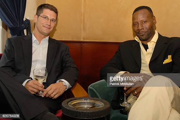 David Stweart and Gregory Generet attend ROSIE POPE MATERNITY gives awareness event for BABY BUGGY at Grand Havana Room on July 14 2008 in New York...