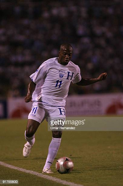 David Suazo of Honduras Rin action during their match as part of the 2010 FIFA World Cup Quailifier at Metropolitan Olympic Stadium on October 10...