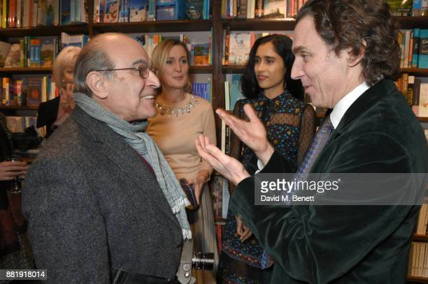 David Suchet and Alexander Newley attend the launch of new book 'Unaccompanied Minor' by Alexander Newley at Daunt Books on November 29 2017 in...