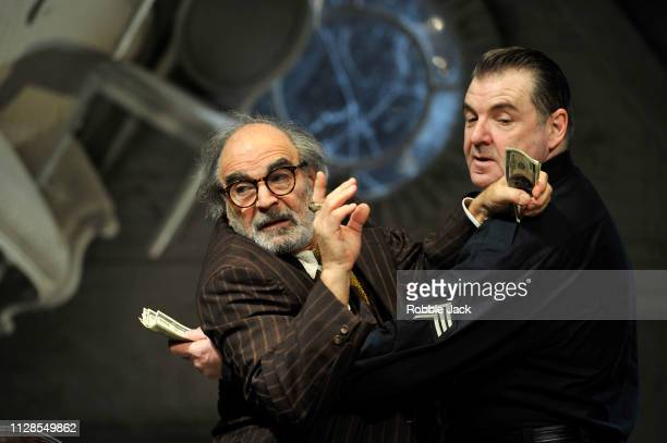 David Suchet as Gregory Solomon and Brendan Coyle as Victor Franz in Theatre Royal Bath's production of Arthur Miller's The Price directed by...
