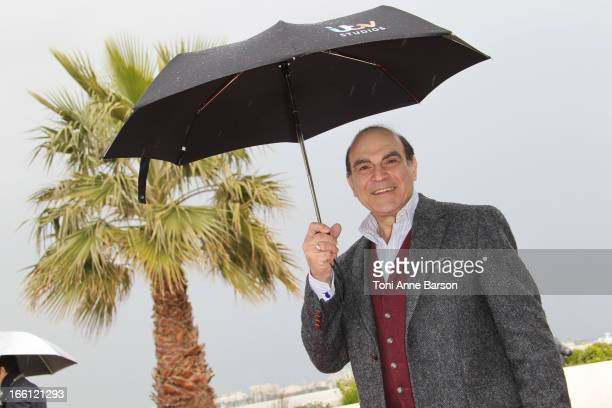 David Suchet attends 'Poirot' Photocall during the 50th MIPTV on April 8 2013 in Cannes France