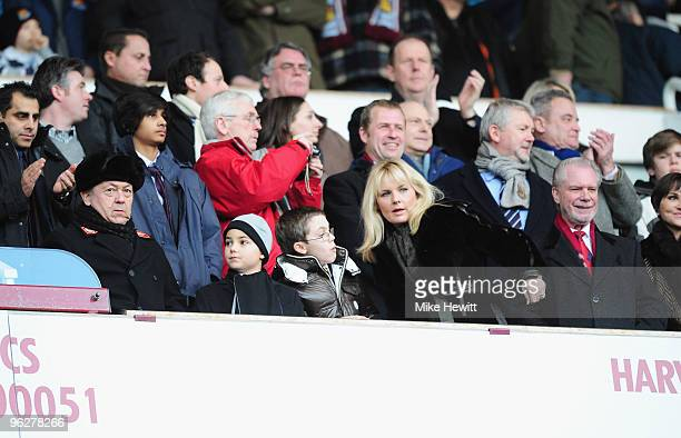 David Sullivan and David Gold , Chairmen of West Ham United look on during the Barclays Premier League match between West Ham United and Blackburn...