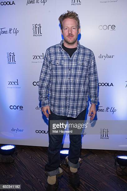 David Sullivan poses for a photo in the Tone It Up Wellness Loung during the Sundance Film Festival on January 21, 2017 in Park City, Utah.