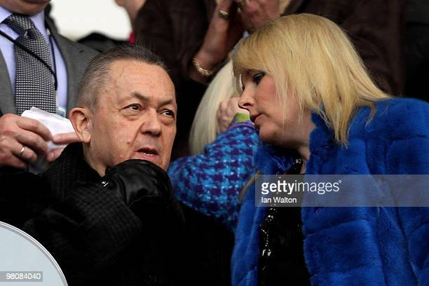 David Sullivan, the joint chairman of West Ham, looks on prior to kickoff during the Barclays Premier League match between West Ham United and Stoke...