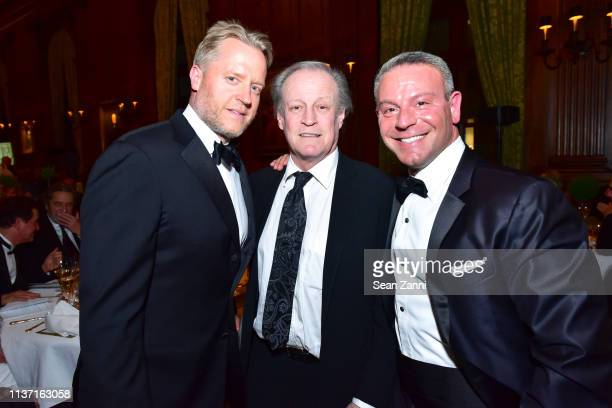 David Svanda Patrick McMullan and Seth Raphaeli attend New York School Of Interior Design Annual Gala at The University Club on March 5 2019 in New...