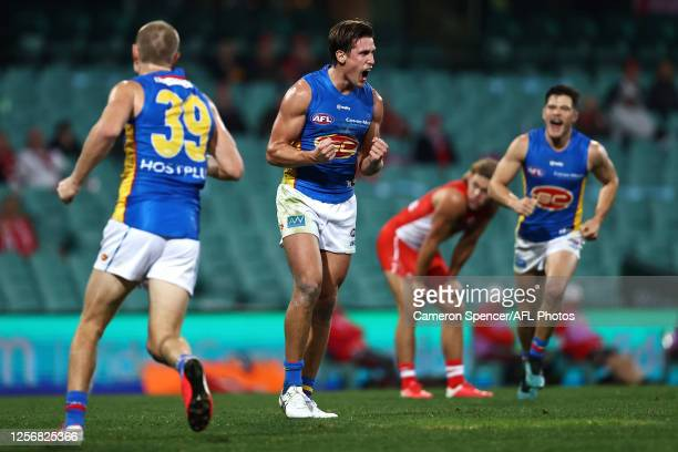 David Swallow of the Suns celebrates kicking a goal during the round 7 AFL match between the Sydney Swans and the Gold Coast Suns at Sydney Cricket...