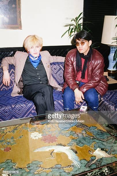 David Sylvian Japan and Ryuichi Sakamoto getting interviewed at a hotel Tokyo February 1981