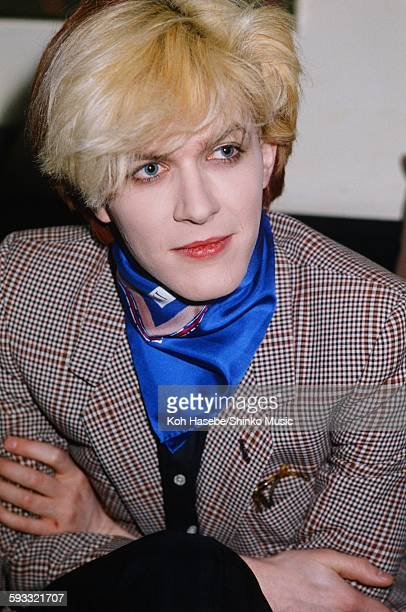 David Sylvian Japan getting interviewed at a hotel Tokyo February 1981