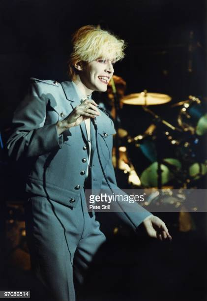 David Sylvian of Japan performs on stage at Hammmersmith Odeon on May 17th 1981 in London England