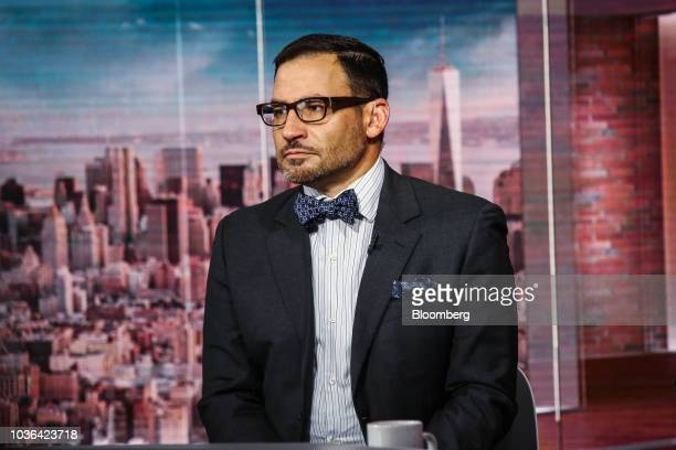 David Tawil president and cofounder of Maglan Capital LP listens during a Bloomberg Television interview in New York US on Thursday Sept 20 2018...