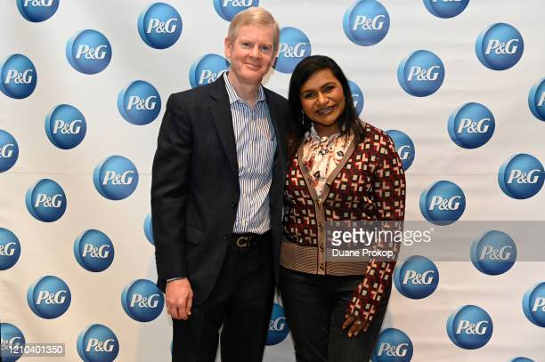 David Taylor and Mindy Kaling attends the PG #WeSeeEqual Forum held at Proctor Gamble on March 04 2020 in Cincinnati Ohio