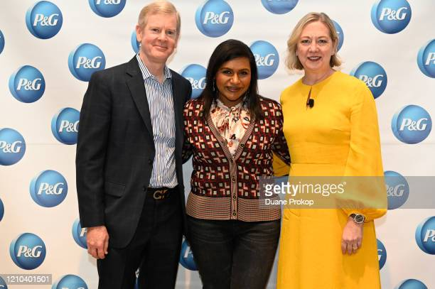 David Taylor Mindy Kaling and Carolyn Tostad attend the PG #WeSeeEqual Forum held at Proctor Gamble on March 04 2020 in Cincinnati Ohio