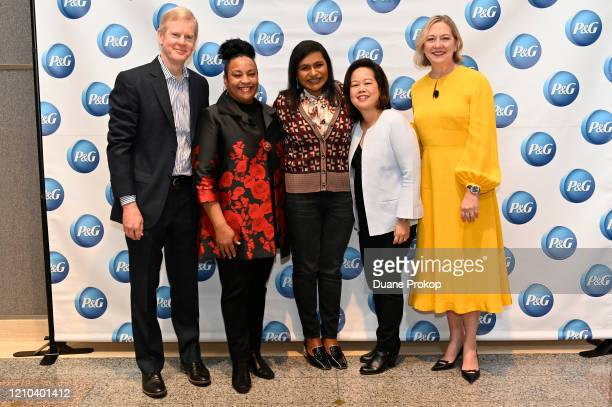David Taylor Monica Turner Mindy Kaling Fama Francisco and Carolyn Tostad attend the PG #WeSeeEqual Forum held at Proctor Gamble on March 04 2020 in...